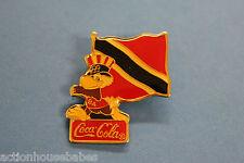 COCA COLA OLYMPICS 1984 EL SALVADOR FLAG SAM THE EAGLE MASCOT LAPEL PIN