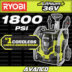 RYOBI 36V 1800PSI Pressure Washer Cordless Battery High RPW36X RPW36X50 NEW