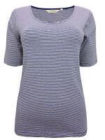 Seasalt Blue Narrows Marine Short Sleeve Organic Cotton Top T-Shirt 8-20 NEW