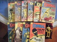 KRIMINAL 1 / 100 ORIGINALI (le prime tre annate) - EDITORIALE CORNO, 1964 / 67