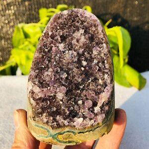 630G Natural Brazilian Amethyst cave quartz crystal D329