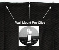 Acoustic Sound Proofing Absorption Blanket 6 PK w/Clips