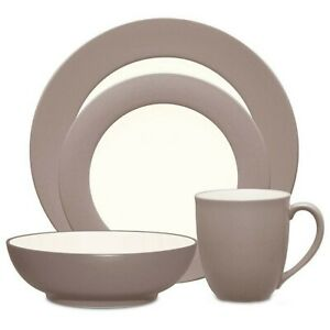 Noritake Colorwave Rim 4 Piece Place Setting In Clay