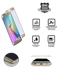 100% Genuine Tempered Curved Glass GOLD Film Screen Protector Samsung Galaxy S7