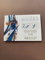 2018-19 Panini - Immaculate Basketball: Reggie Jackson Auto #/99 - Pistons