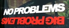 200mm (20cm) n ° grandes problemas Sticker Decal Gráfico Jdm Dub Vw Euro coche divertido 4x4