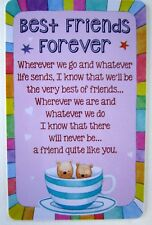 "HEARTWARMER KEEPSAKE CARD ""BEST FRIENDS FOREVER"" WITH SWEET VERSE BIRTHDAY GIFT"