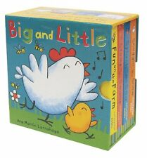 Big and Little Mini Board Book Set 4 Book Set by Ana Martin Larranaga NEW