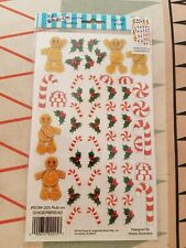 Gingerbread - SOM225 - Rub on transfers - craft - card making scrap booking