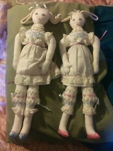 A Pair of Intricate, Frilly, and Beautiful Hand Made Dolls!