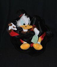 Peluche doudou chapeau haut de forme Picsou DISNEYLAND noir rouge blanc TTBE