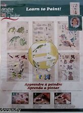 Donna Dewberry GARDEN FRIENDS One Stroke Learn to Paint Worksheets 6 Designs