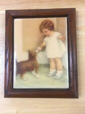 The Exquisite Art of Bessie Pease Gutmann Rockford Editions 1983 Girl With Dog