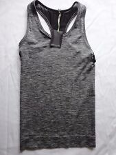 Manuka Life, Seamless Racer Back Yoga Top, Black Melange, Size XS / S - RRP £45
