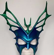Halloween Mask BLUE FACE HYDRA Greek God Mask Leather Masquerade Mask Carnival