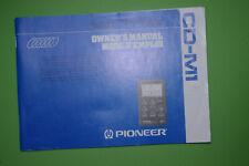 Pioneer CD-M1 Owner's Manual / Multi-Play CD controller