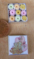 1:12 Scale Square Tin With Biscuits Dolls House Miniature Kitchen Accessory Bt21