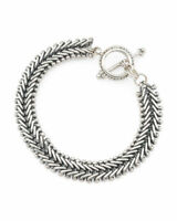 """STEPHEN DWECK Sterling Silver Toggle chain Bracelet 7.5""""  New"""