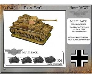 TATTY - 15MM - WWII GUNS & TANKS P-43 - PZVIF G PLATOON - FORGED IN BATTLE - G