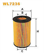 WIX FILTERS OIL FILTER  Part Num: WL7236- WAREHOUSE