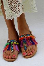 ELINA LINARDAKI Dizzy Parrot Leather Flat Sandals BNWT net a porter 38 5 RRP£233