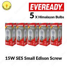 5 X Himalayan Salt Lamp Bulbs E14 15W Pygmy Light Appliance Bulb SES Small Screw