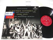 """Solti """"Rossini-Respighi:La Boutique Fantasque""""1957 LP,VG++!,London LL.1715,1A/2A"""