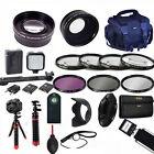 LED LIGHT / LENSES / TRIPOD /FILTERS/ PRO KIT FOR NIKON COOLPIX P900 ALL U NEED