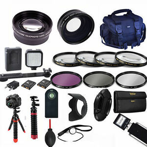 LED LIGHT / LENS / TRIPOD/ PRO Kit for SONY ALPHA A5000 A5100 A6000 A6300 A5300