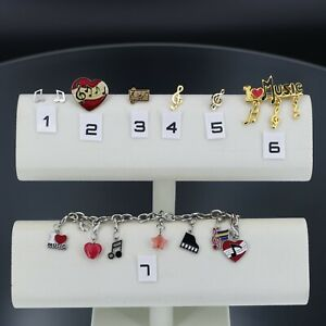 I Love Music Notes Charm Bracelet Music Note Pins Stud Earrings Band
