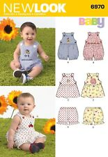 Look Sewing Pattern 6970 Babies' Romper, Dress and Panties, Size A