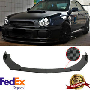 For Subaru WRX STI Impreza BRZ Carbon Fiber Front Bumper Lip Splitter Spoiler US