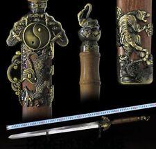 Handmade Chinese Sharp Carbon Steel Wushu Sword Tachi KungFu Tiger Jian FullTang
