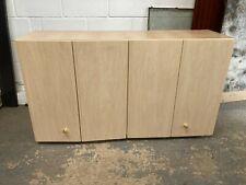 Light Wood Effect Sliding Constantina 4 Door Kitchen Workshop Cabinet Cupboard