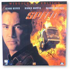 Keanu Reeves Sandra Bullock Signed Autographed Laserdisc Cover Speed JSA U16590