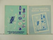 1972 ESI Dealer Motorcycle Parts Price List And Catalog Minibike Go-kart L434