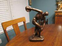 Vintage Austin Prod.  Man w/discus Figurine -Bronze Finish 1968