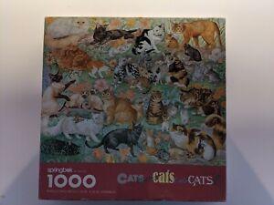 """VINTAGE SPRINGBOK PUZZLE """"CATS CATS CATS!"""" 1000 PIECES"""