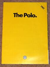 Polo Paper 1983 Car Sales Brochures