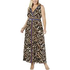 INC Womens Animal Print Daytime Sleeveless Maxi Dress Plus BHFO 6468
