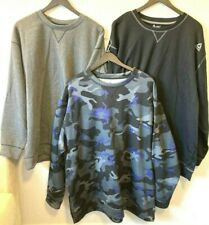 NWT Big & Tall Reebok sweatshirt Speedwick Fleece Crewneck hunting FISHING CAMO