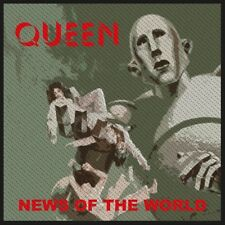 QUEEN PATCH / AUFNÄHER # 21 NEWS OF THE WORLD - 10x10cm