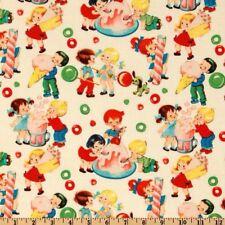 Michael Miller Retro Candy Shop Cream 100% Cotton Half Yard 45cm x 110cm