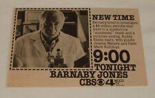 1974 CBS tv ad ~ BARNABY JONES hired to investigate