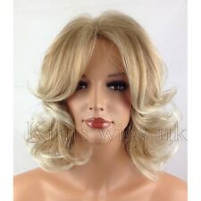 BLONDE LADIES WIG WOMENS SHORT CURLY SHOULDER LENGTH FASHION HAIR FULL HEAD UK