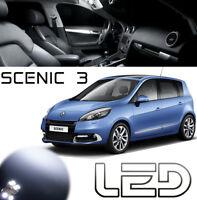 SCENIC 3 Pack 15 ampoules LED Blanc Habitacle Plafonnier Sol bas porte Coffre