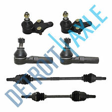 Driver and Passenger CV Axle + Lower Ball Joint 2 Outer 2 Inner Tie Rod; no ABS
