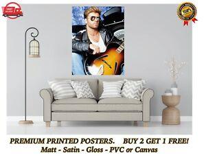 WHAM George Michael Music Legend Large Poster Art Print Gift A0 A1 A2 A3 A4 Maxi