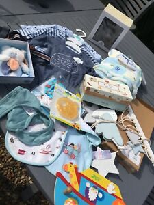 Baby Boys Newborn Bundle  Blanket Bibs rattle mobile tops and more