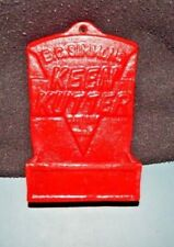 KEEN KUTTER MATCH HOLDER WALL MOUNT E. C. Simmons Cutlery & Tools CAST IRON RED